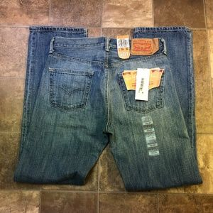 Levi's 501 Straight Leg Button Fly Jeans NEW